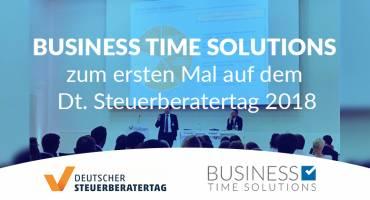 Business Time Solutions zum ersten Mal auf dem Dt. Steuerberatertag 2018